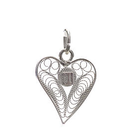 Pendant filigree heart in 800 silver s4