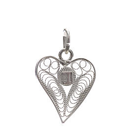 Pendant filigree heart in 800 silver s2