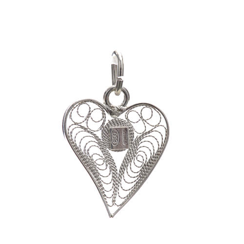 Pendant filigree heart in 800 silver 4