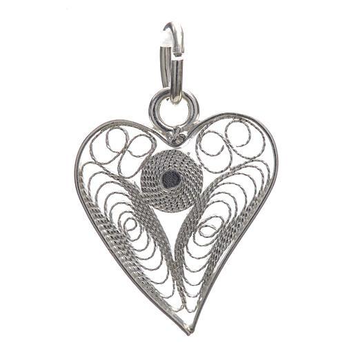 Pendant filigree heart in 800 silver 1