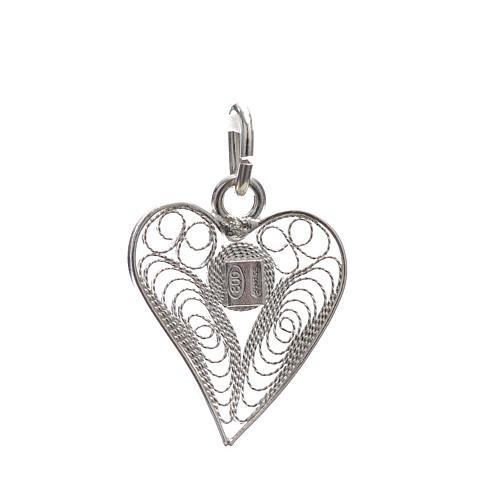 Pendant filigree heart in 800 silver 2
