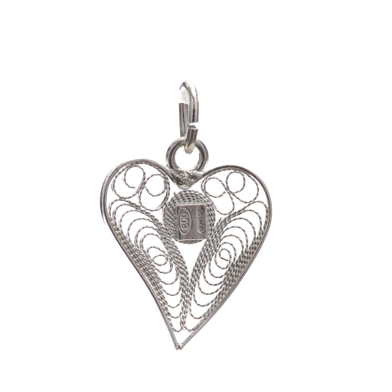 Corazón filigrana plata 800 4