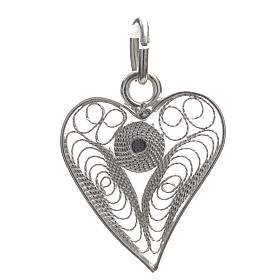 Corazón filigrana plata 800 s3