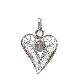 Corazón filigrana plata 800 s2
