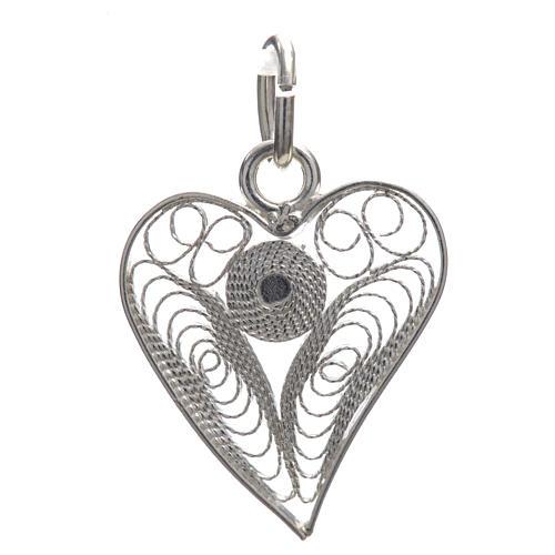 Corazón filigrana plata 800 3