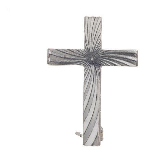 Cruz broche Clergyman plata 925 3