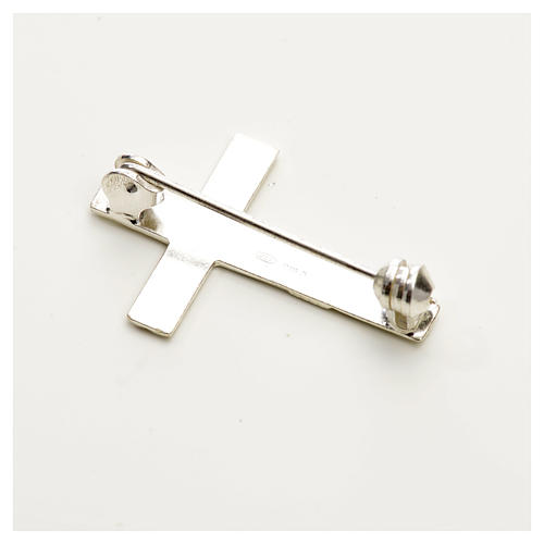 Cruz broche Clergyman plata 925 4