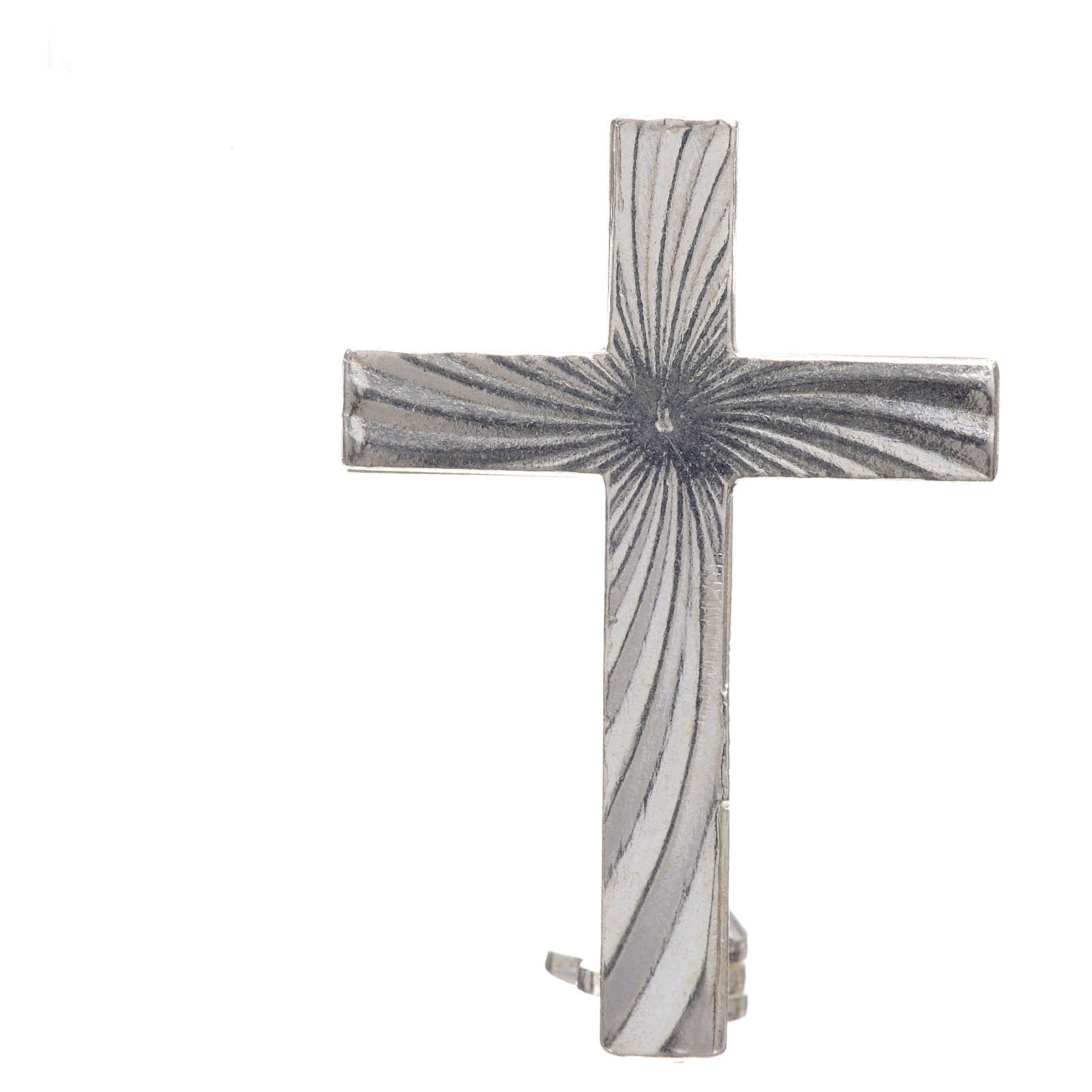 Croce spilla Clergyman argento 925 4