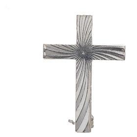Croce spilla Clergyman argento 925 s3