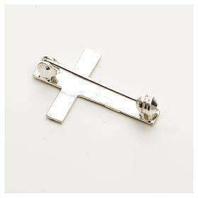 Croce spilla Clergyman argento 925 s4