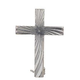 Croce spilla Clergyman argento 925 s1