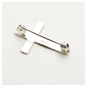 Croce spilla Clergyman argento 925 s2