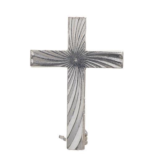 Croce spilla Clergyman argento 925 1