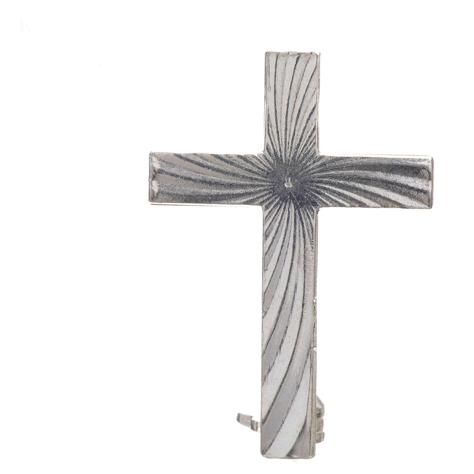 Cross brooch, clergyman in 925 silver 4