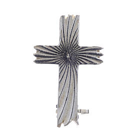 Clergyman knurled cross pin in 800 silver s1