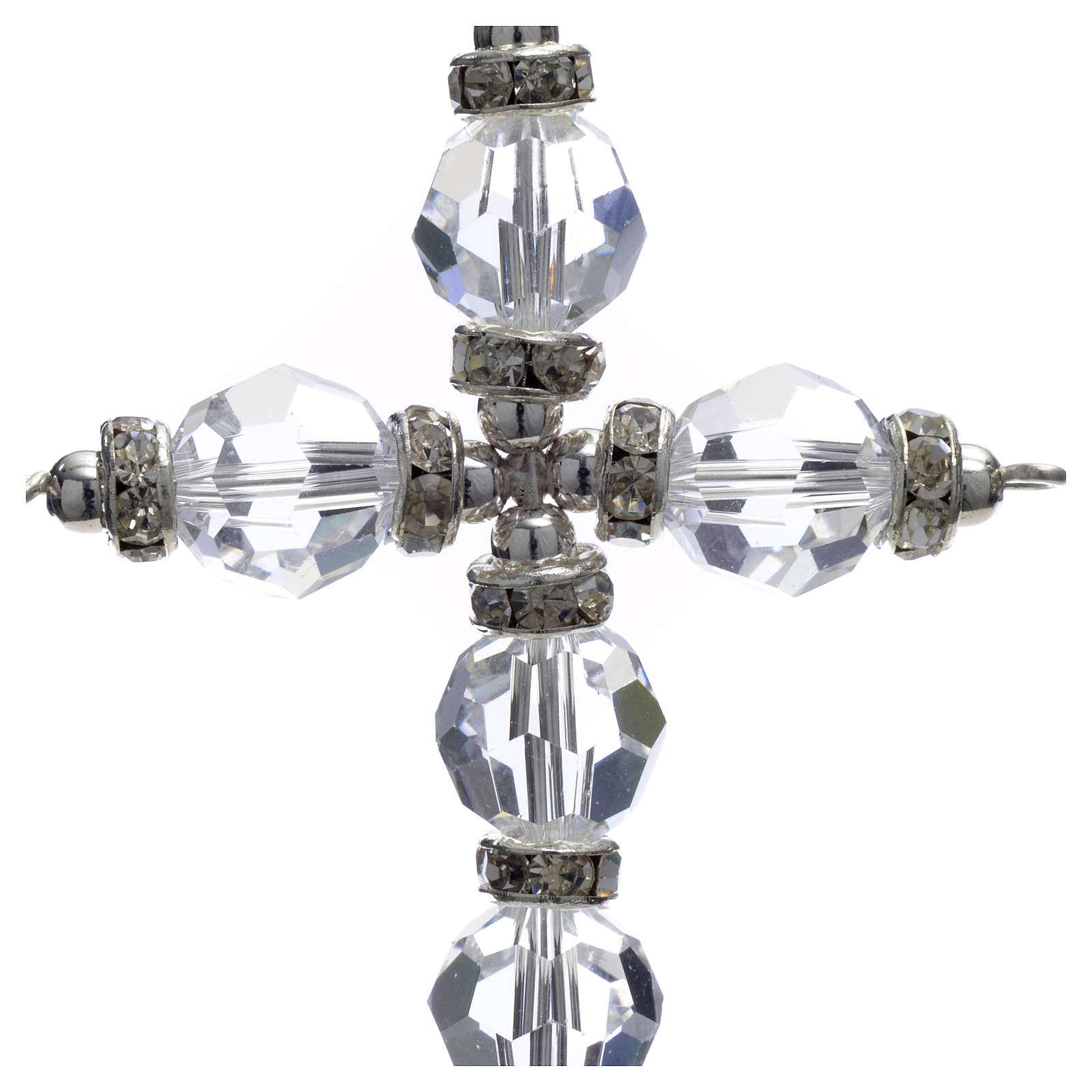 Croce Swarovski bianco 4