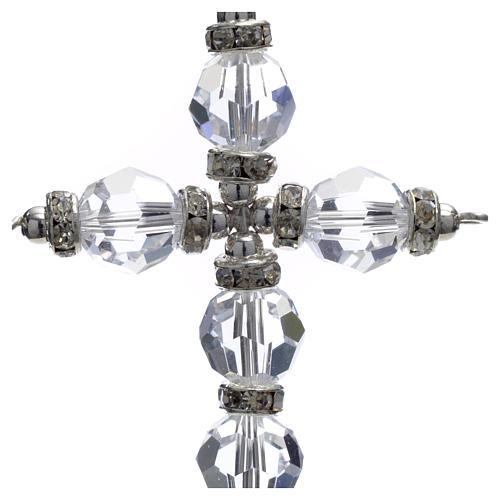 Croce Swarovski bianco 2