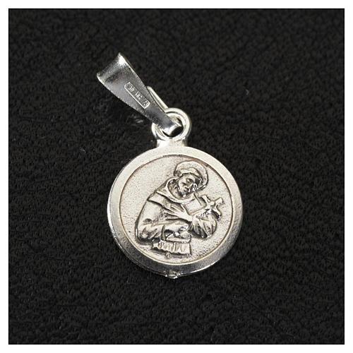 Médaille St François 9 mm en argent 925 2