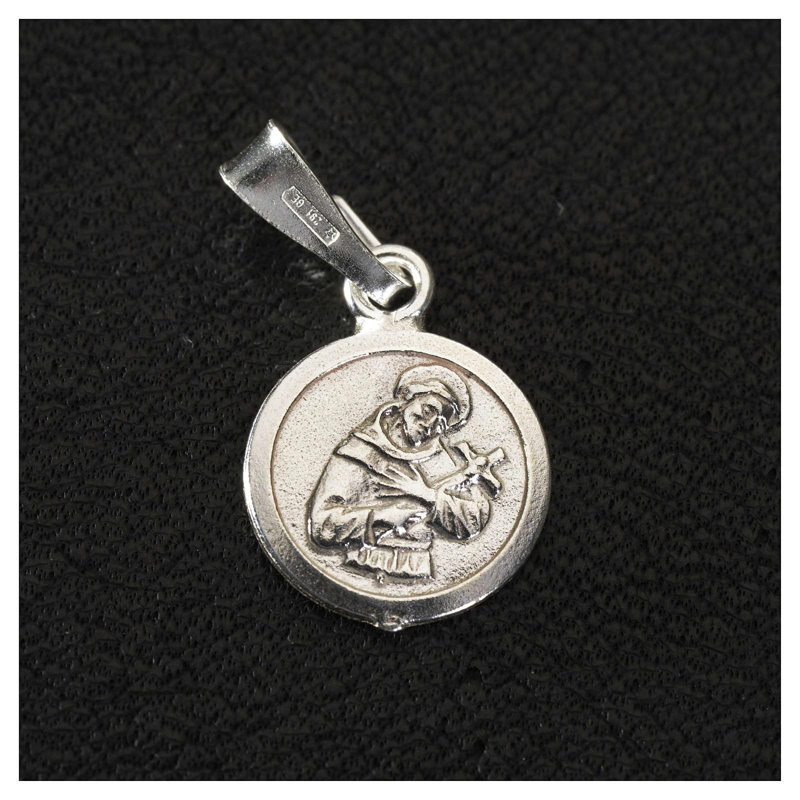 Medaglia argento 925 San Francesco 9 mm 4