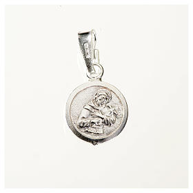 Medaglia argento 925 San Francesco 9 mm s1