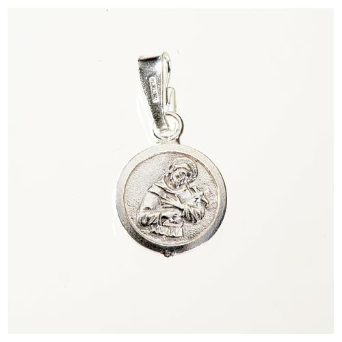 Medaglia argento 925 San Francesco 9 mm 1