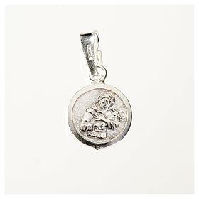 Medalha prata 925 São Francisco 9 mm s1