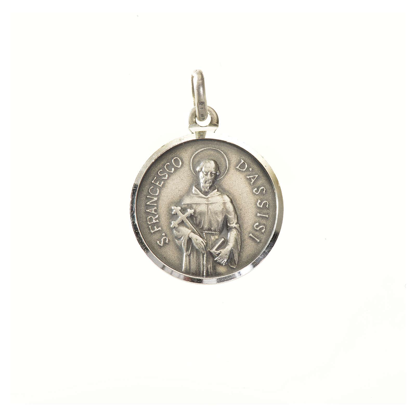 Medaglia argento 925 San Francesco 16 mm 4