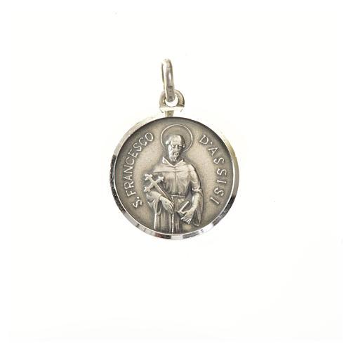 Medaglia argento 925 San Francesco 16 mm 1