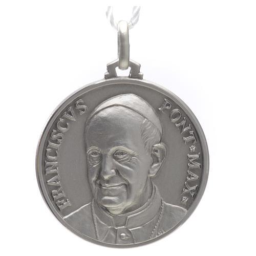 Medaille von Papst Franziskus aus Silber 925 1