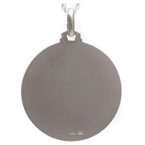 Medaille von Papst Franziskus aus Silber 925 2