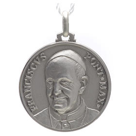 Pope Francis medal in silver 925 s1