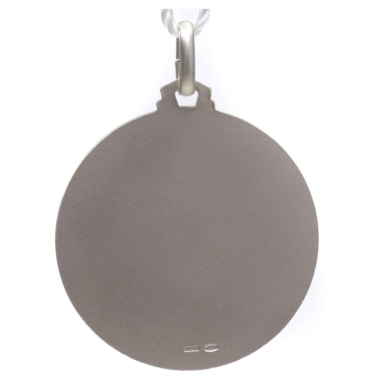Medallia Papa Francisco plata 925 4