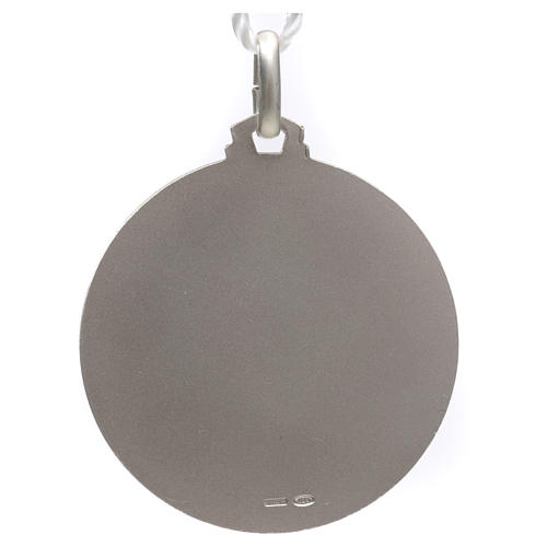 Medallia Papa Francisco plata 925 2