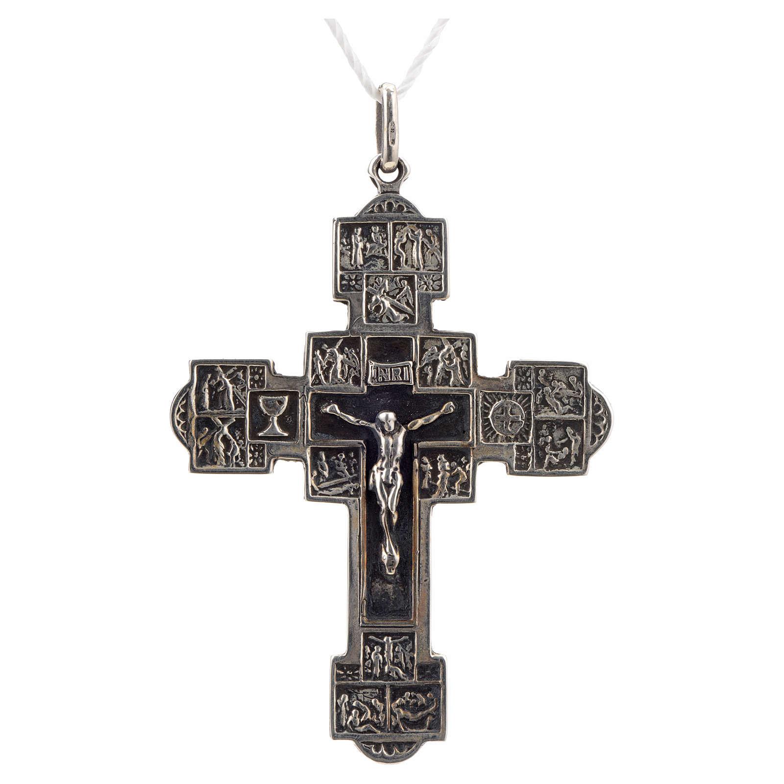 Colgante cruz con Vía Crucis plata 925 4