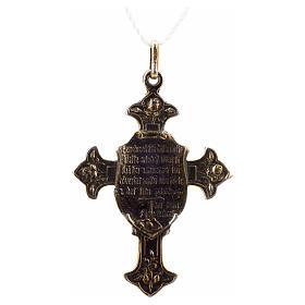 Croce di San Francesco con benedizione argento 925 s2