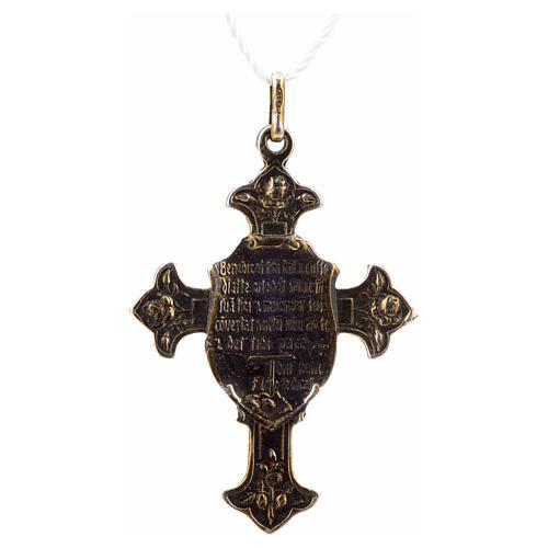Croce di San Francesco con benedizione argento 925 2