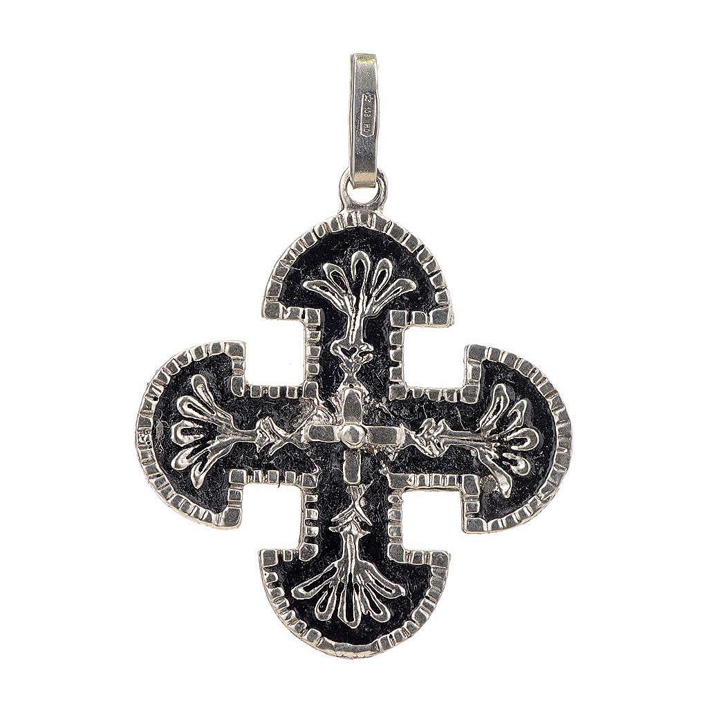 Cruz románica de derivación griega plata 925 4