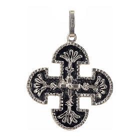 Cruz románica de derivación griega plata 925 s1