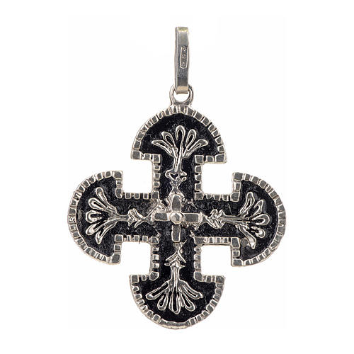 Cruz románica de derivación griega plata 925 1