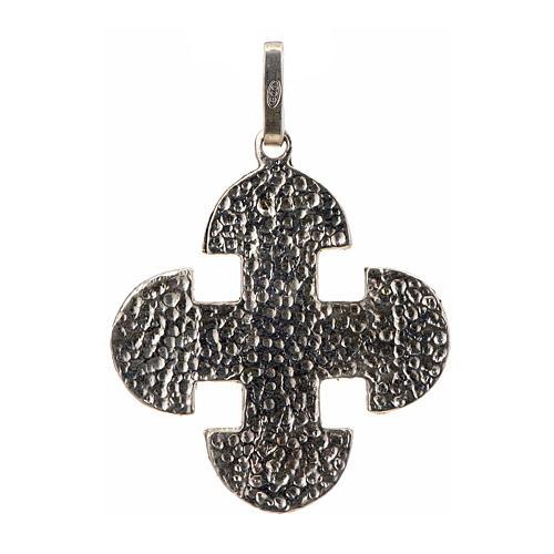Cruz románica de derivación griega plata 925 2