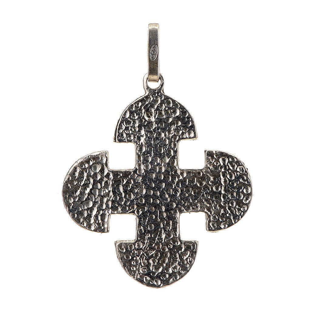 Croce romanica di derivazione greca argento 925 4