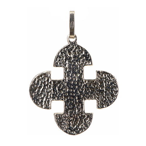 Croce romanica di derivazione greca argento 925 2