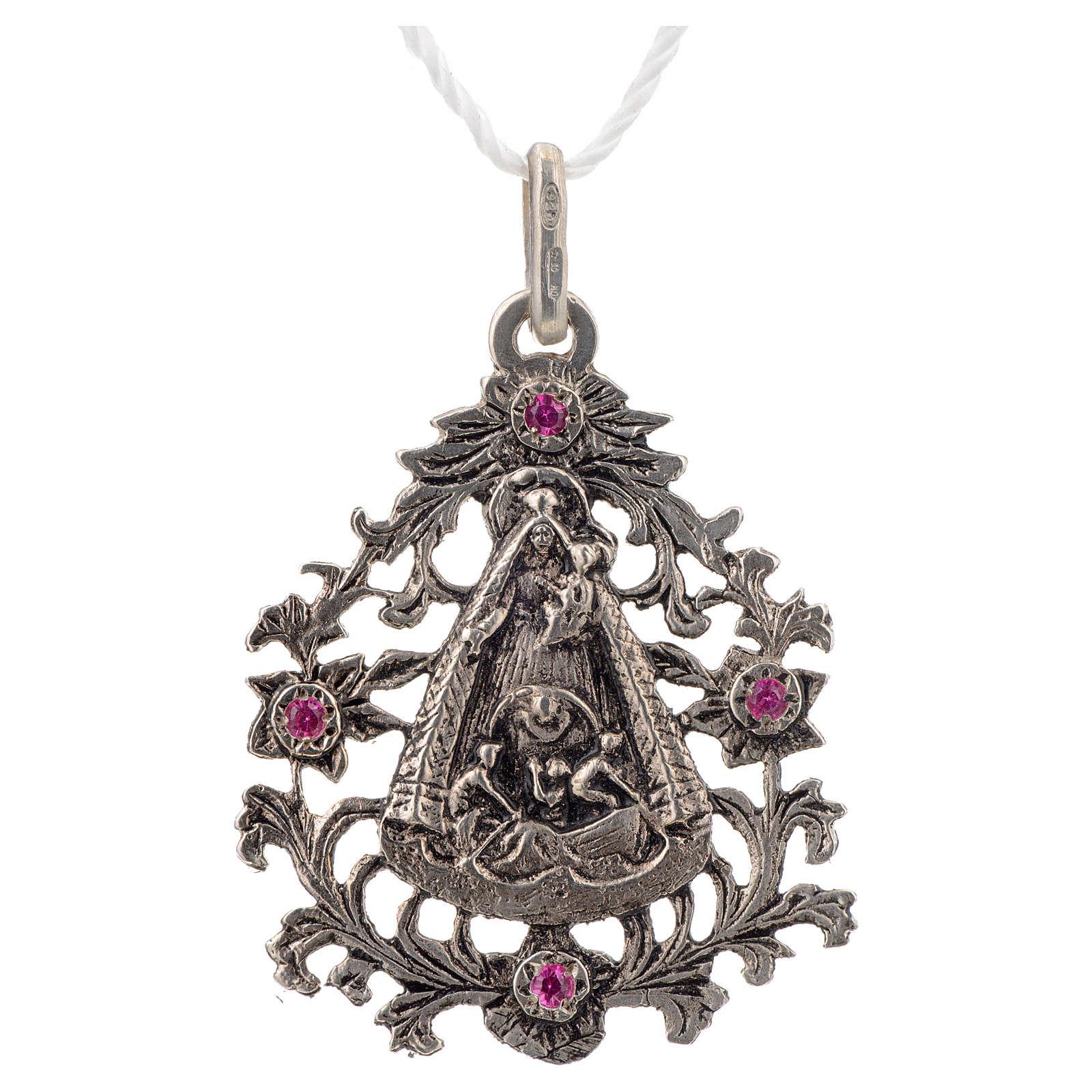 Colgante Virgen del Cobre plata 925 4