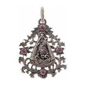Colgante Virgen del Cobre plata 925 s1