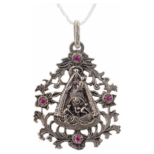 Colgante Virgen del Cobre plata 925 3