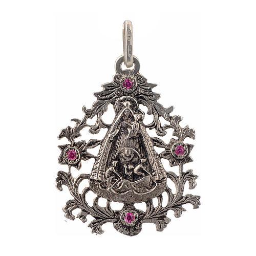 Colgante Virgen del Cobre plata 925 1