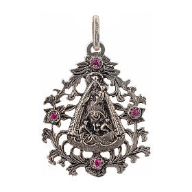 Pendant Our Lady of El Cobre in sterling silver s1