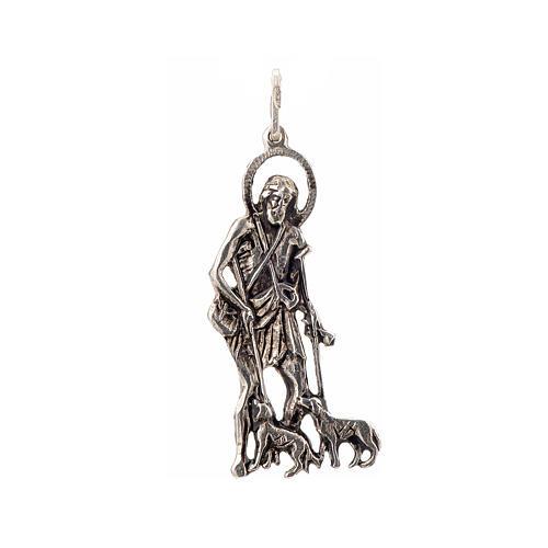 Colgante San Lázaro 4x1,7 cm plata 925 1