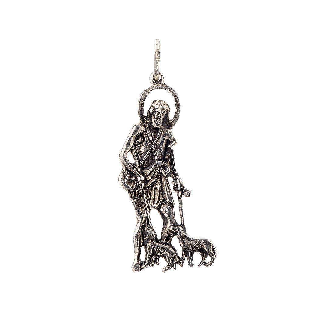 Pendentif Saint Lazare 4x1.7cm argent 925 4