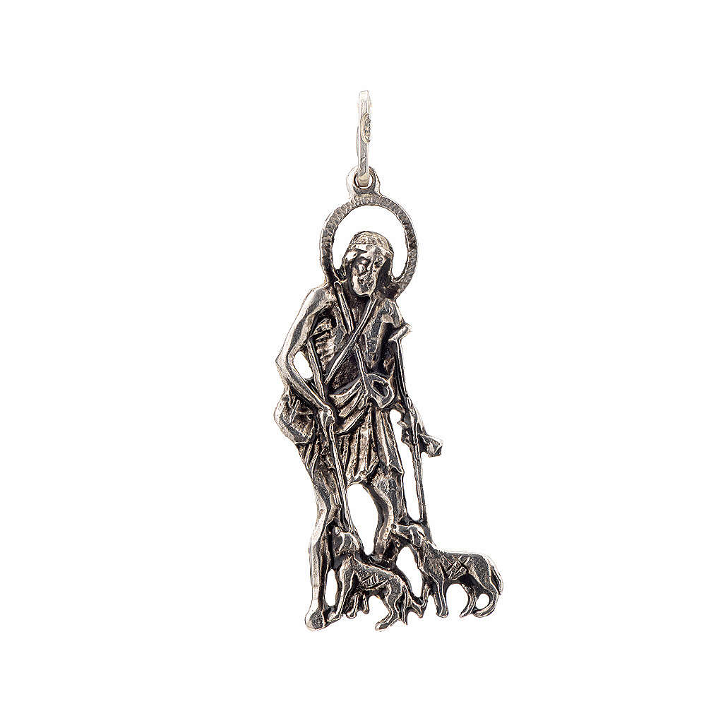 Pendant Saint Lazarus in sterling silver 4